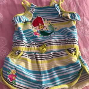 Disney cover up romper, super cute Ariel